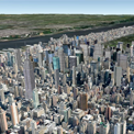 peta satelit bangunan 3D