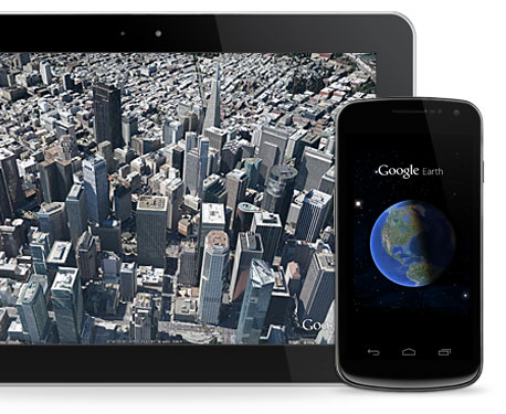 Google Earth for mobile