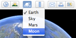 Moon in toolbar