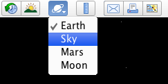 Sky in toolbar
