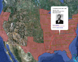 Explore our US Presidents on a Map