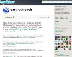Google Earth Outreach on Twitter
