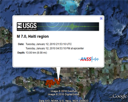 Real-time USGS earthquake feed