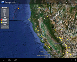 Google Earth content on your mobile device