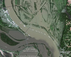 Post flooding imagery of Mississippi
