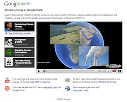 Climate Change Tour in Google Earth