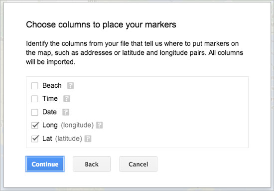 Select Location Column