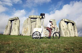 Street View Trike at Stonehenge
