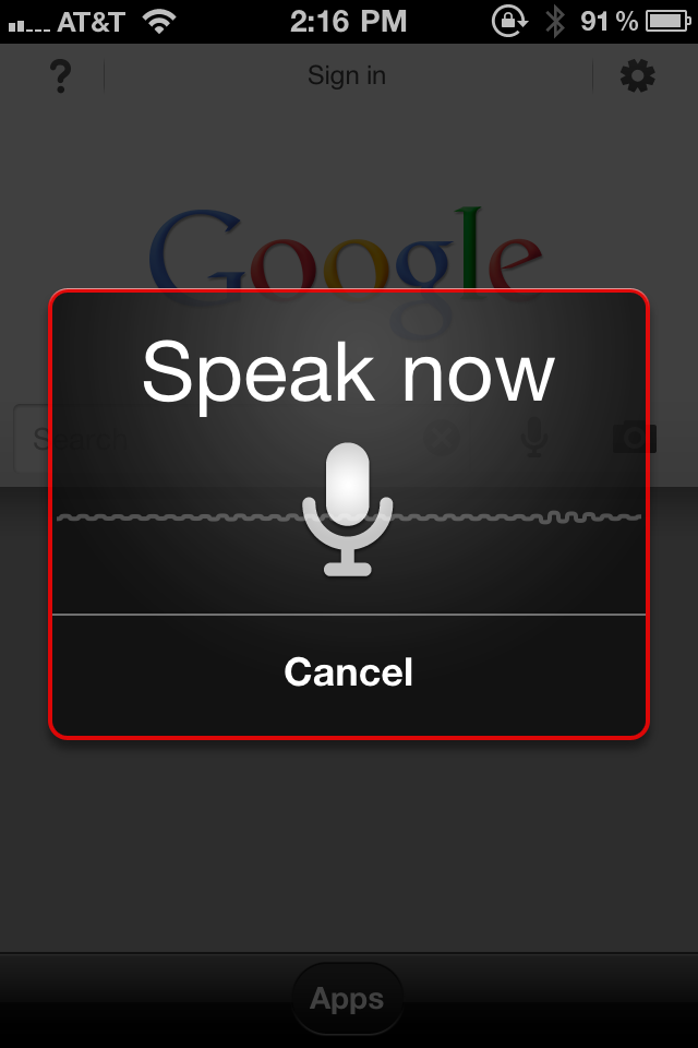 google search icon. To use Google Search by voice,