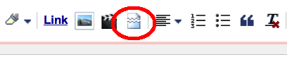 Jump icon in the toolbar