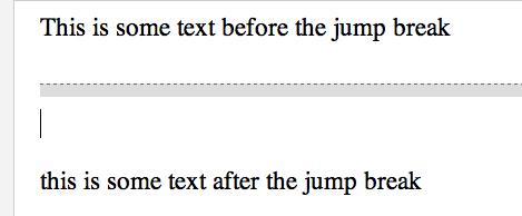Gray jump line