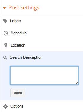 Search description for posts
