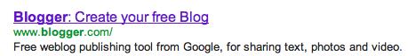 Blog Search Description for Blogger