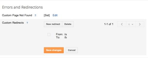 Chức năng Custom redirect của Blogger