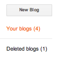 New blog button
