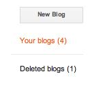 Deleted blog