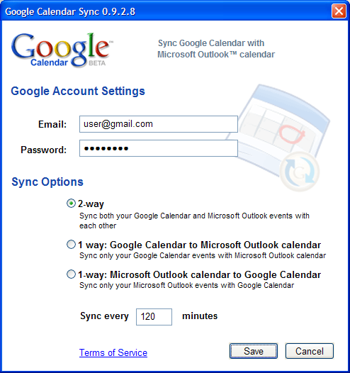 Google Calendar Sync