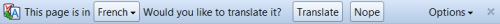Translation bar