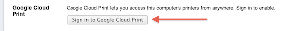 Sign in to Google Cloud Print