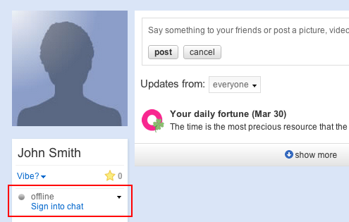 How to activate chat on Orkut