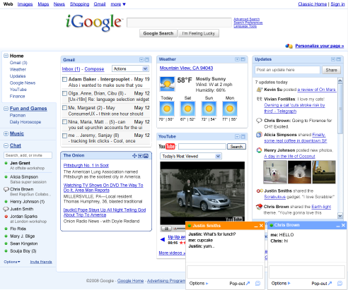 New iGoogle Preview