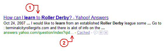 image of a Google search result snippet showing a truncated URL