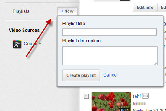 how to add a video to an existing youtube playlist