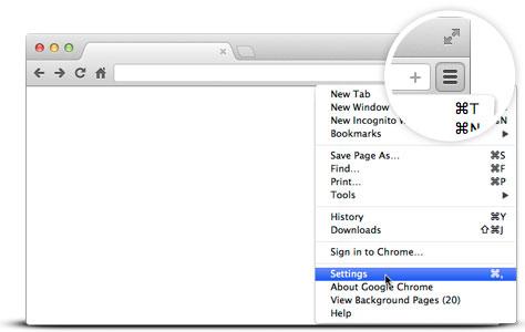 how to set default on google chrome