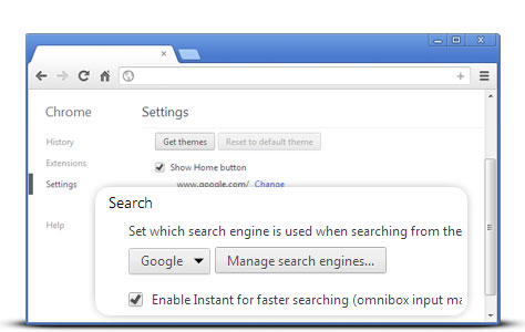 how to default google chrome settings