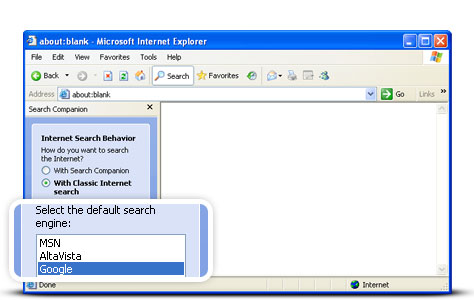 google as default search engine mac