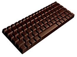 clavier chocolat