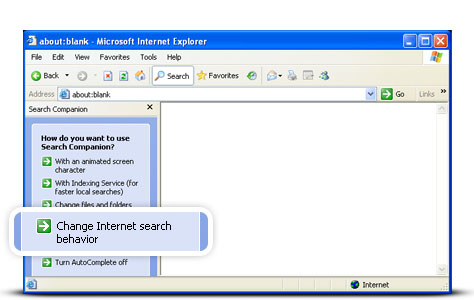 how to set google as default search engine