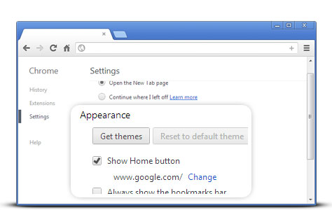 how to set google as home page for chrome
