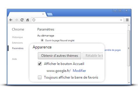 Mettre google en francais en page d'accueil