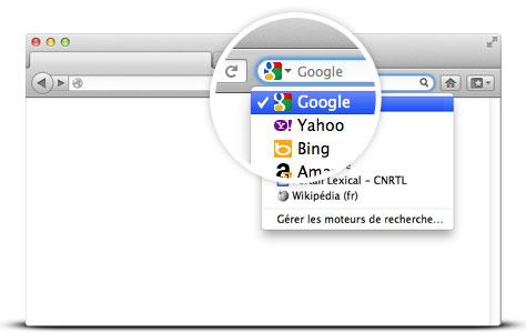 comment mettre google en moteur de recherche sur mac