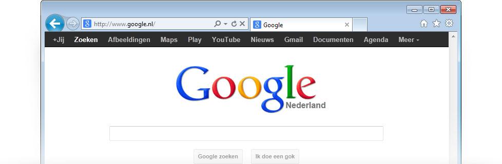 google als startpagina downloaden