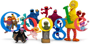 Google Doodle 40th Anniversary of Sesame Street
