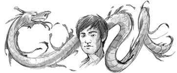 Google Doodle Bruce Lee's 70th Birthday