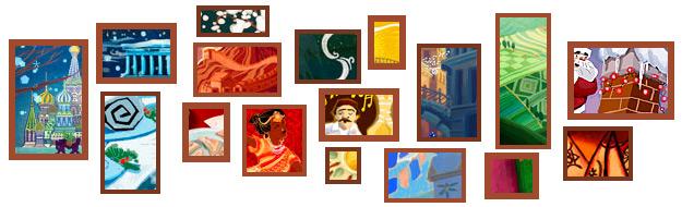 圣诞节到了,Google logo涂鸦总是给人带来意外,这次也不例外。