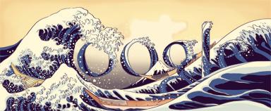Google Doodle Birthday of Katsushika Hokusai