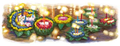 Google Doodle Loy Krathong Festival 2010