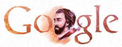 Google Logo: Alfred de Musset's 200th Birthday - French dramatist, poet, and novelist