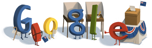 Google Doodle New Zealand Elections 2011