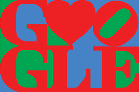Happy Valentine's Day from Google & Robert Indiana. Courtesy of the Morgan Art Foundation / ARS, NY