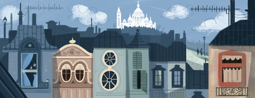 Google Doodle Paul Abadie's 200th Birthday