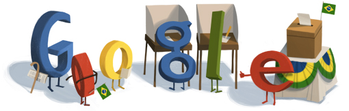 Google Doodle Brazilian Elections 2012