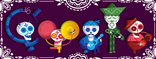 Google Doodle from Day of the Dead 2012