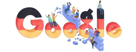 Google Doodle German Reunification Day 2012