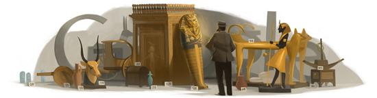 Google Doodle Howard Carter's 138th Birthday