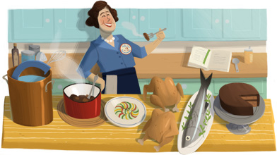 Julia Child Doodle